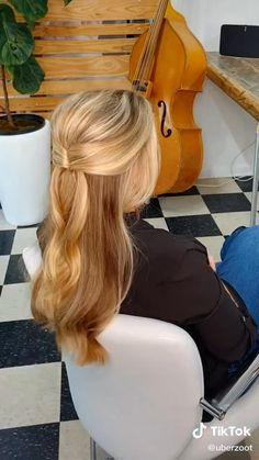 Work Hairstyles, Easy Hairstyles For Long Hair, Hairdos, Pretty Hairstyles, Braided Hairstyles, Wedding Hairstyles, Medium Hair Styles, Curly Hair Styles, Hair Upstyles