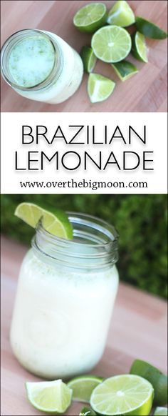 This Brazilian Lemonade is the perfect fresh drink during the warm months! From www.overthebigmoon.com!: