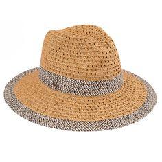Paper Straw Panama Hat with Zigzag Pattern (ST-400)