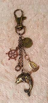 Kľúčenky - kľúčenka, ozdoba na tašku bronzová - Námornícka - 5067392_