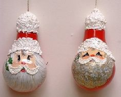 Art Image detail for -Light-Bulb Santa Ornaments by Linda Faber crafts