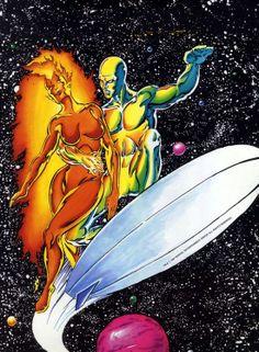 Nova II & Silver Surfer by Marshal Rogers
