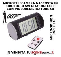Una sveglia con telecamera integrata..quante idee d'uso si possono trovare!!! http://www.scontiperfetti.it/spy-investigazione/200-orologio-sc-128-spy-pro-hd-1080p-4gb-ir.html