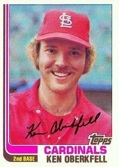 1982 Topps #474 Ken Oberkfell - St. Louis Cardinals (Baseball Cards) by Topps. $0.88. 1982 Topps #474 Ken Oberkfell - St. Louis Cardinals (Baseball Cards)