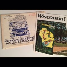 1967 Wisconsin Vacation Travel Pack 32 Page Picture Book Highway Map Great Graphics