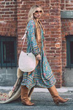 Alexandra Spencer wears Spell Designs Folk Town Boho Dress