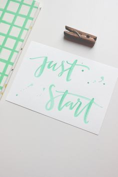A Fabulous Fete: monday motivation // just start  http://www.afabulousfeteblog.com/2014/01/monday-motivation-just-start.html