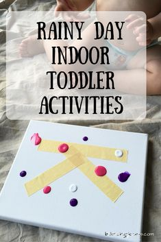 Being a South Florida family we often have days filled with either drizzles of rain or an out right downpour. With a toddler full of energy you've got to make accommodations. Here is a list of 5 indoor rainy day toddler activities: