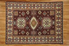 5 x 7 Hand Knotted Chocolate Brown Kazak Oriental Rug on Etsy, $969.00