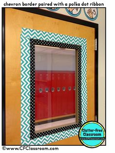 Classroom Door Decor {Classroom Design Photos, Set Up Pictures & Ideas, Organization & Management} - Clutter-Free Classroom