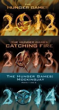 The Hunger Games, The Hunger Games: Catching Fire, Mockingjay part 1 and 2