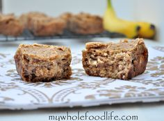 Grain Free Banana Bread with no added sugars.  This stuff is moist and delicious.  Vegan too.