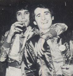 Freddie Mercury and John Reid, 1976