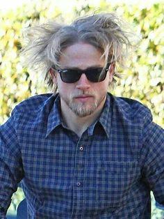 Charlie Hunnam...loving that hair!!  ;)