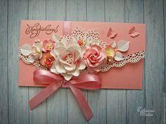 Купить Конверт для денег «Розовое облако» - розовый, конверт, Конверт для денег…