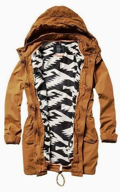 Gorgeous brown hood jacket style fashion