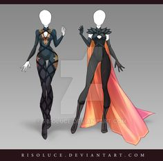 (OPEN) Adoptable Outfit Auction 126-127 by Risoluce.deviantart.com on @DeviantArt