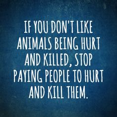 if you don't like animals being hurt and killed, stop paying people to hurt and kill the - why finance animal cruelty? go #vegan for cruelty-free eco-friendly ethical healthy living