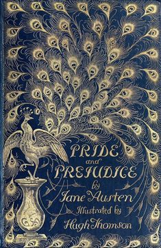 Jane Austen's Pride and Prejudice, a vintage edition. Love the peacock feathers: it  says much about the content of the book and the nature of the characters. :) Beautiful edition.