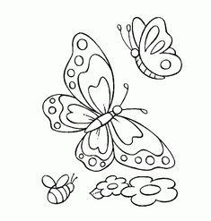 borboletas para colorir - Pesquisa Google