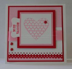 Filled with Love S.U. set. Like the layering and the border punched layer, too.