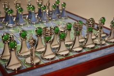 Stained glass chess set - decorative
