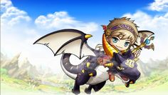 Evan. A playable character in Maplestory. He is in the job class Hero under the classification of a magician