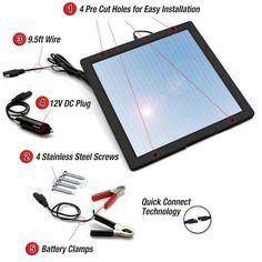 Cargador de goteo solar para cuando se guarde la RV no se descarquen las baterías ni se estropeen.