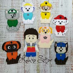 Finger Puppets - Paw Patrol