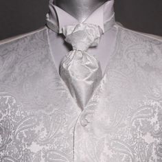 Seremonivest med tilbehør i hvit Floral Tie, Fashion, Moda, Fashion Styles, Fashion Illustrations