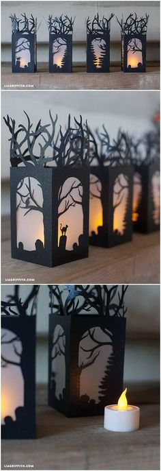 DIY Paper Lanterns for Halloween Decorations. The perfect Halloween lanterns, add more touch of spooky flair and elegance to your decor!