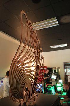 Gran corte láser--Escultura