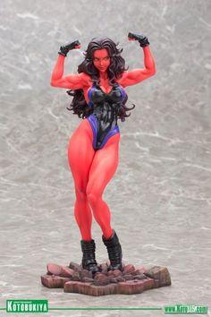 Red She-Hulk Bishoujo Statue 2015 SDCC Exclusive