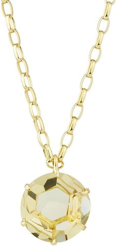 Ippolita Gemma 18k Round Champagne Citrine Pendant Necklace