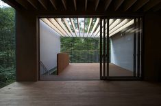 """""""Pilotis in a forest"""" is the name of this weekend house designed by Japanese studio Go Hasegawa located three hours outside of Tokyo. Situated in the middle"""