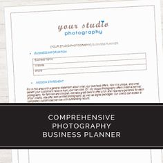 Photography Business Forms   Critical Contracts And Order Form