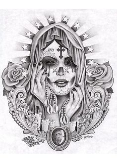 catrina calavera tattoo - Google Search