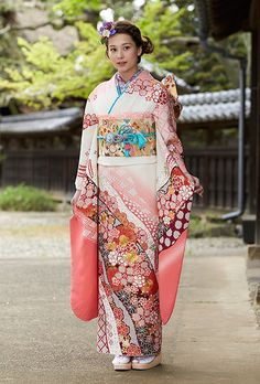 NO.094 手絞り刺繍 成人式の振袖販売、振袖レンタルの京都きもの友禅