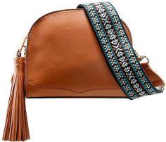 Leather Sunday Moon Crossbody Bag