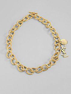 Yves Saint Laurent - Textured Link Necklace