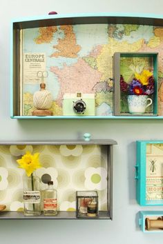 Upcycling: Turn an old set of drawers into customised shelves.                                                                                                                                                                                 More