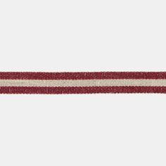 Ribbon woven 15mm red/linen 3m - Stoff & Stil
