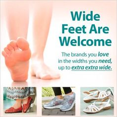 We've got the widths you need up to extra extra wide. Shop our wide width shoes for women and men here. Whatever your style, find everything from sandals to flats and more. Chubby Fashion, 60 Fashion, Plus Size Fashion, Fashion Shoes, Wide Width Shoes, Wide Shoes, Wide Feet, Shoes Online, Me Too Shoes