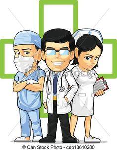 Funny Nurse Clip Art | , stock clip art icon, stock clipart icons, logo, line art ...