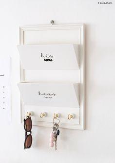duni.cheri: DIY: Briefablage, Schlüsselbrett & Schlüsselanhänger aus Holz basteln