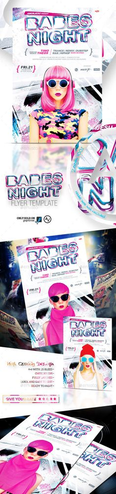 Babes Night Flyer Template