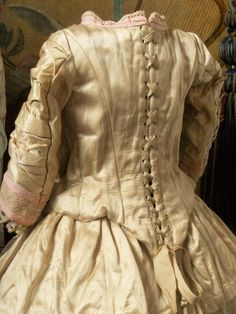 Most Beautiful French Silk Costume with Bonnet