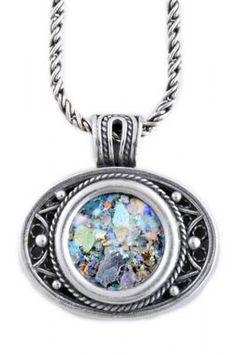 Stunning Woman Pendant, 925 Sterling Silver Pendant, Ancient Roman Glass Pendant, Roman Glass Jewelry, OOAK