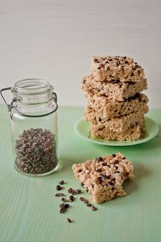 salted brown butter cocoa nib rice krispie treats