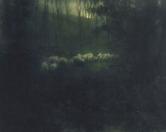lacalaveracatrina:  Pastoral - Moonlight by Edward Steichen, 1907. Hand-toned photogravure.